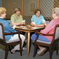 Ladies playing cards
